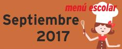 Menú Septiembre 2017