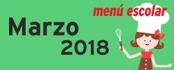 Menú Marzo 2018